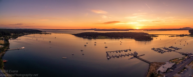 Fisherman Bay Panorama, Lopez Island, WA (15 June 2015) DJI Phantom 3 1/100s @ F/2.8 iso 118 (4 shot stitched panorama) Altitude: 288ft