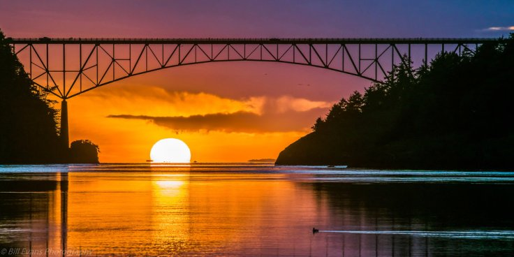 Image No. 3 - Sunset Under the Deception Pass Bridge (Whidbey Island, Washington)   Sony A7Rii  + Adapted Lens (1/640s iso 100)